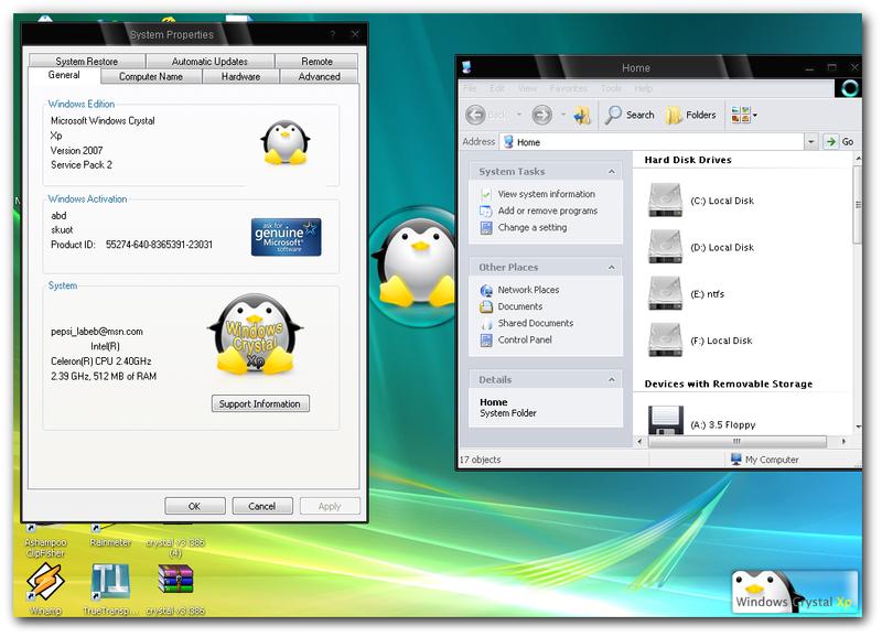 Windows Crystal XP v3 اصليه بدون نقص صور روابط